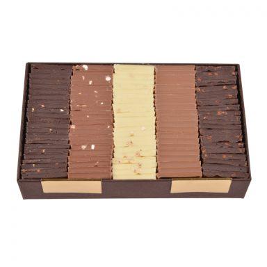 Carrés de chocolat dégustation – 5 saveurs au choix (340 g)