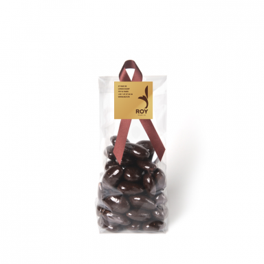 Almonds Coated with Dark Chocolate - bag of 200 g