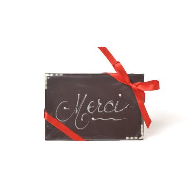 MERCI Dark Chocolate Message Bar - 50 g