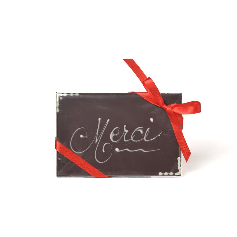 MERCI Dark Chocolate Message Bar - 50g