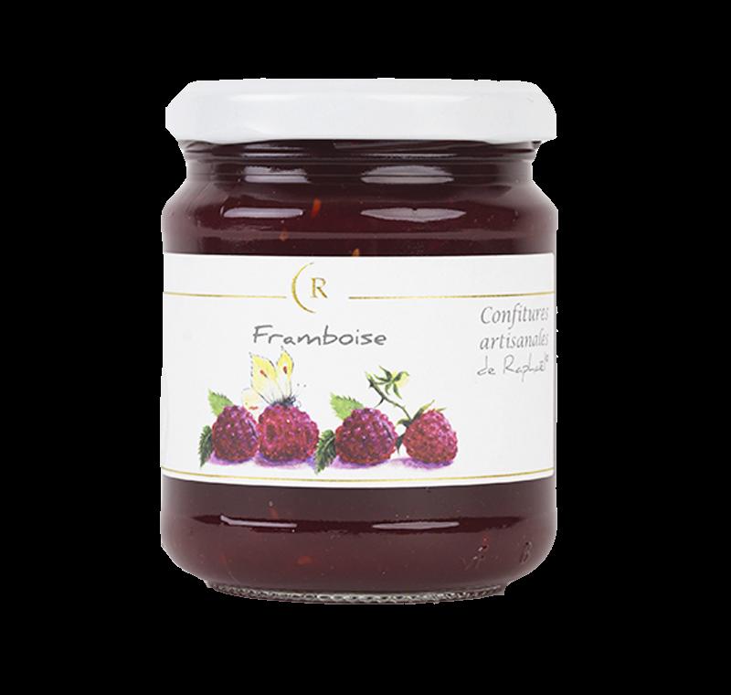 Confiture de frambRaspberry Jam With No Added Sugar, made in Brittany, Franceoises sans sucre ajouté fabriqué en Bretagne