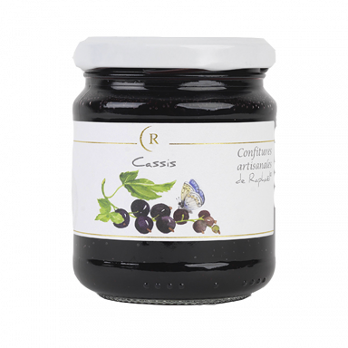 Confiture de cassis saBlackcurrant Jelly With No Added Sugar, made in Brittany, Francens sucre ajouté fabriqué en Bretagne