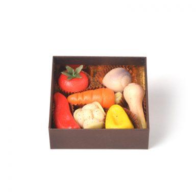Pâte d'amande modelages légumes – coffret de 7 pièces