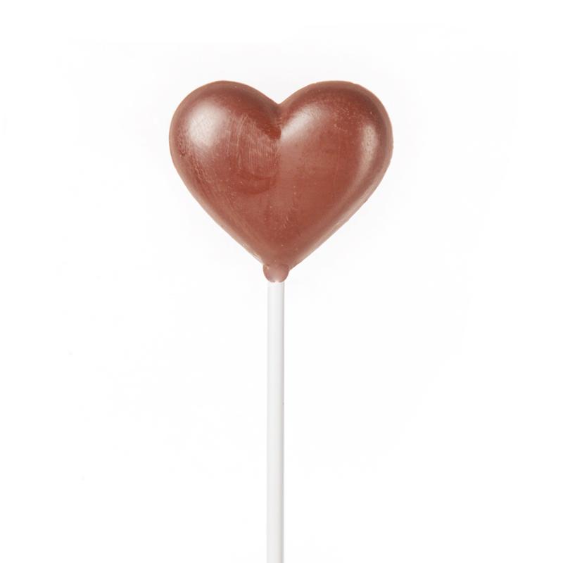 Heart Milk Chocolate Lollipop