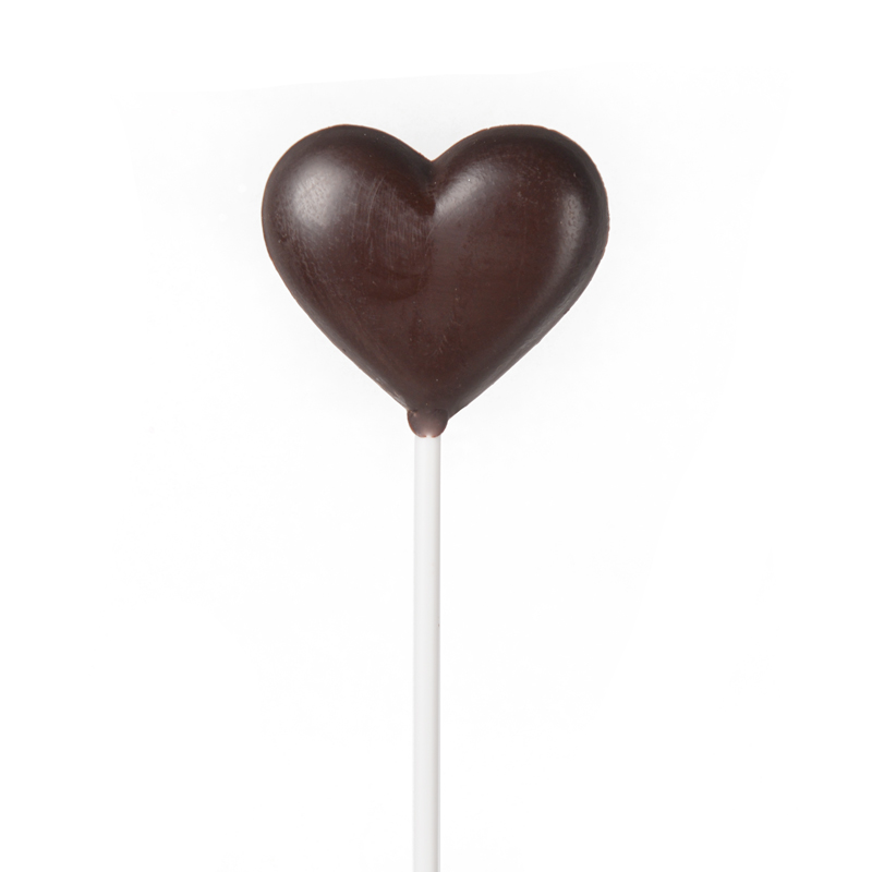 Heart Dark Chocolate Lollipop