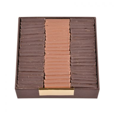 Sugar free dark and milk chocolate parisian tiles - box of 200 g