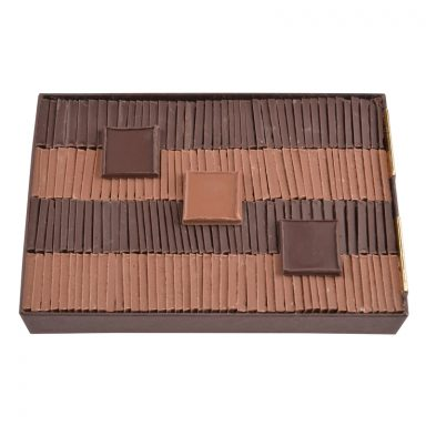 Sugar free dark and milk chocolate parisian tiles - box of 550 g