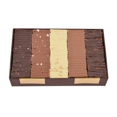 5 Flavours Chocolate Parisian Tiles - box of 340g