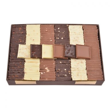 6 Flavours Chocolate Parisian Tiles - box of 550 g