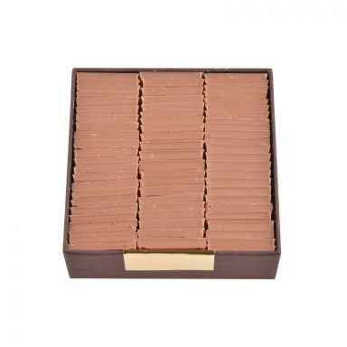 Milk chocolate and salted caramel Parisian Tiles - gourmet box of 200g