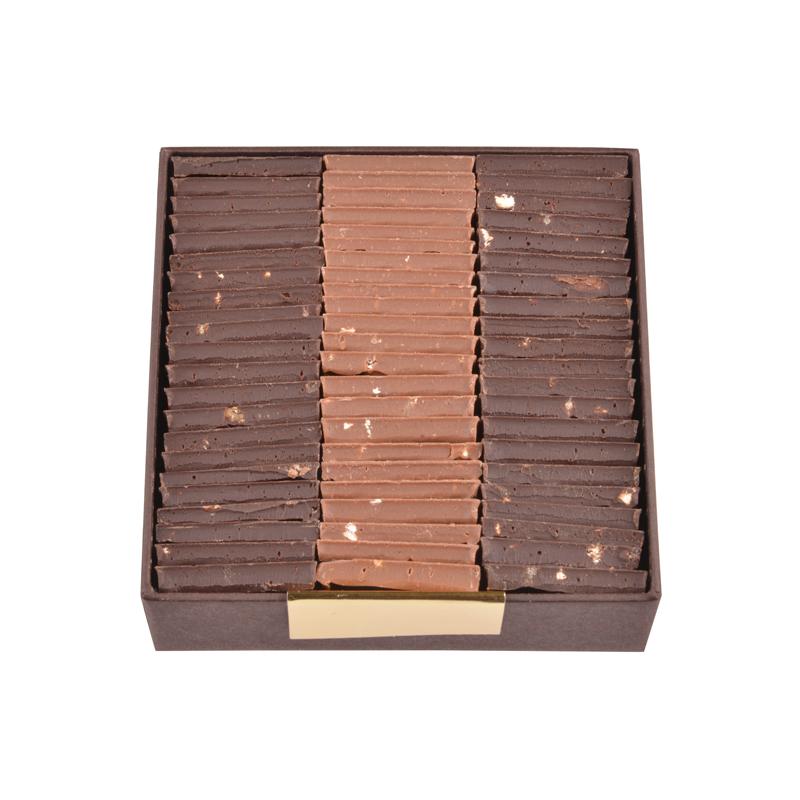 Milk and Dark Chocolate Parisian Tiles - box of 200g