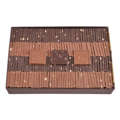 Milk and Dark Chocolate Parisian Tiles - box of 550g