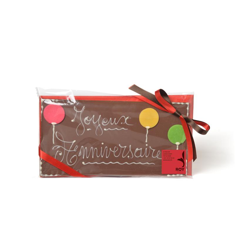 JOYEUX ANNIVERSAIRE Milk Chocolate Message Bar - 150g