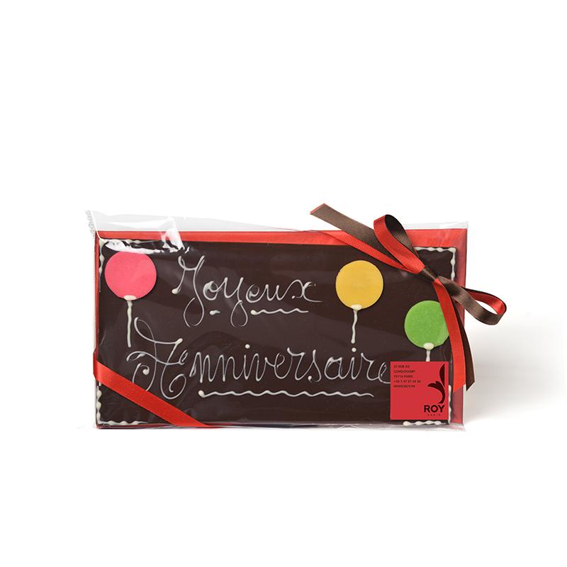 JOYEUX ANNIVERSAIRE Dark Chocolate Message Bar - 150g