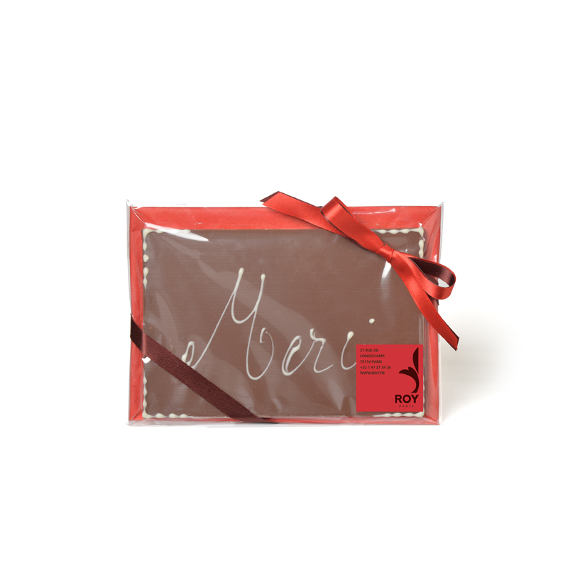 MERCI Milk Chocolate Message Bar - 120g
