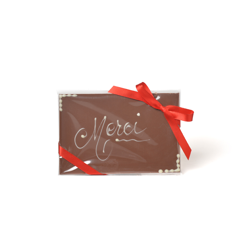 MERCI Milk Chocolate Message Bar - 50g
